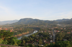 A view out over more of Luang Prabang from the top of the lookout point at Phou Si.