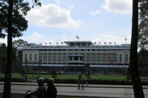 The less-than-impressive-looking Reunification Palace.