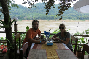 Drinks along the Mekong.