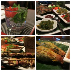 Tasty drinks and eats at Tamarind, one of the better restaurants in town.