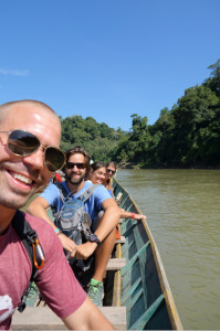 On our way to Tat Se Waterfalls with Pat and Brenda.