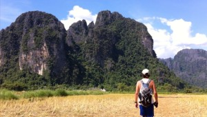 Our approach to the cave gave us stunning views of the limestone karsts.