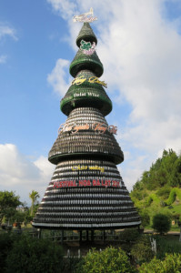 And just so you don't forget what the most well-known local offering is, they've thrown in a giant tree of wine bottles.