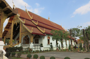 Some of the beautiful architecture around Wat Phra Singh.