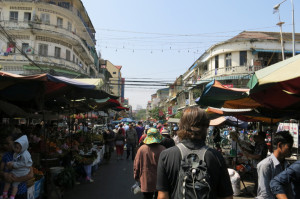 Wandering through another outdoor market.