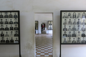 Room after room with images of the victims.