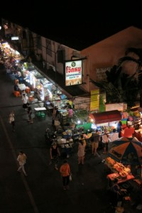 Soi 38 Night Market from above.