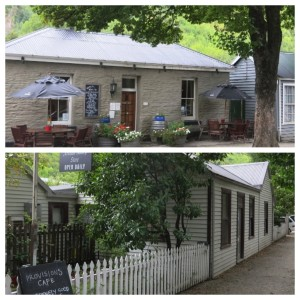 Two of our favorite Arrowtown locations, Fork & Tap (top) and Provisions Cafe (bottom), housed in the once-homes of gold miners.