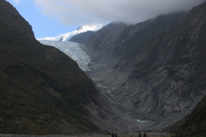 Going in for a look at Franz Josef.