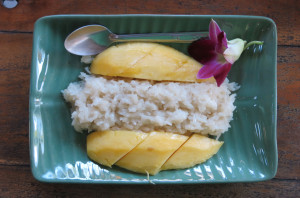 One last go 'round with the mango sticky rice. We'll miss you.