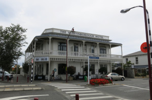 "Martinborough Hotel. Same as it was the day it opened in the 1880's. The developer called it ""one of the finest hostelries ever erected in any inland town in New Zealand."" So, yeah. It's big in inland New Zealand."