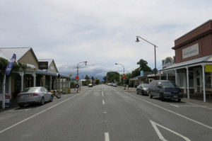 Sleepy downtown Martinborough.