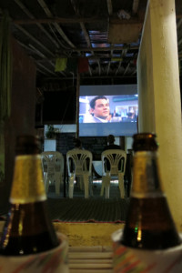 We caught a surprise showing of Wolf of Wall Street at a local bar. Best enjoyed with a cold Chang, like everything else in Railay.