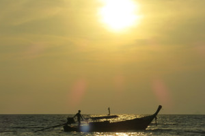 I'm not sure if I mentioned this yet, but there are a lot of longtail boats around Railay...