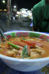 Another delicious bowl of Tom Yum, this one from Krabi Town's night market.
