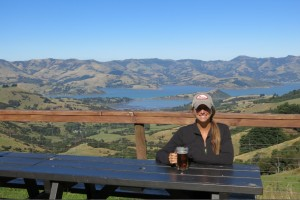 Hilltop Tavern provided ridiculous views over the Banks Peninsula.