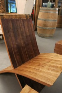 All the furniture is made of recycled wine barrels, making for very appropriate wine bar decor.