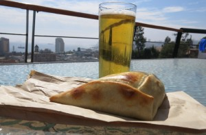 Late breakfast of empanadas on our balcony. Yeah, I said breakfast. Why?