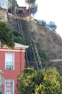An unused funicular track. Thanks for nothing, funicular.