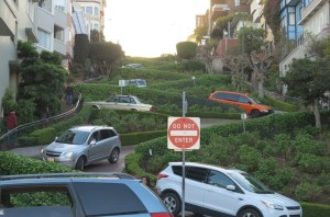 Couldn't resist a walk past Lombard Street.