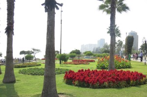 "Pretty El Parque del Amor (""Love Park"") on the coast in Miraflores."