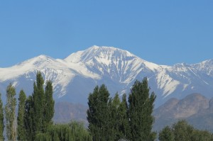 View of the Andes from the balcony.