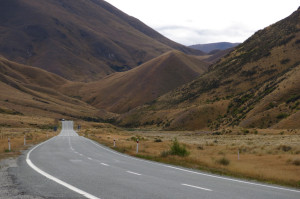 Making our way through Lindis Pass north toward Mt. Cook.