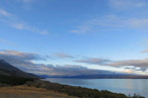 One last view of Lake Pukaki before heading to Lake Tekapu.