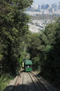 After our breathless hike to the top, we opted for a ride on the funicular down.