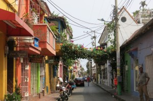 Our street during our Getsemani stay.