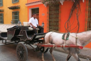 Horse-drawn carriages are the main form of transportation inside Old Town.